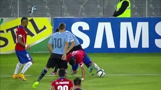 Uruguay dio vuelta a Chile 2:1 en Santiago. Mirá el compacto