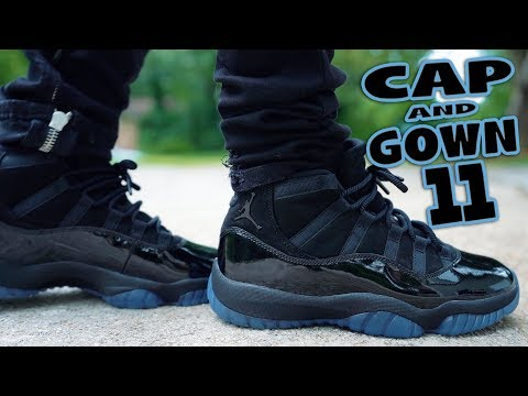 WILL YOU COP ?!? AIR JORDAN 11 CAP AND GOWN REVIEW AND ON FEET !!!