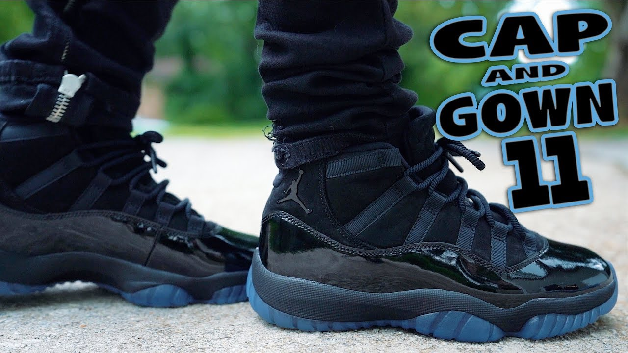 WILL YOU COP  !  AIR JORDAN 11 CAP AND GOWN REVIEW AND ON FEET ... 3a3c86075d7