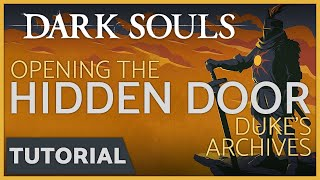 Dark Souls: How To Open The Hidden Door Behind The Bookshelf In Duke's Archives