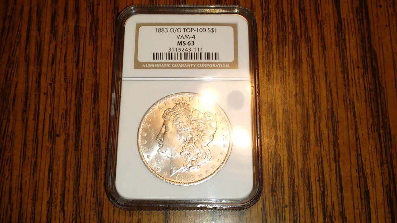 1883 O Silver Morgan Dollar NGC Vam 4 O/O