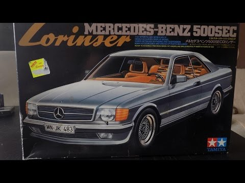 unboxing mercedes 500 sec lorinser 1 24 tamiya youtube. Black Bedroom Furniture Sets. Home Design Ideas