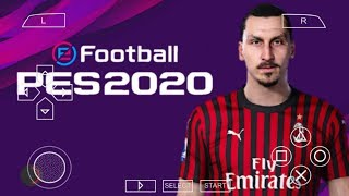 PES 2020 PPSSPP English Version Camera PS4 Android Offline 600MB Best Graphics New Transfers Update