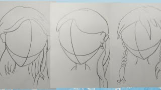 How to draw cute anime/manga hairstyles//side view || Vardah arts// step by step