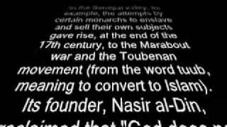 Jihad and the European demand for slaves Trans-Atlantic Slave trade part 3