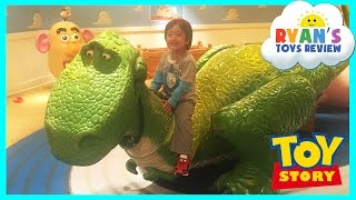 GIANT DISNEY TOY STORY Kids Playroom with Mr Potato Head