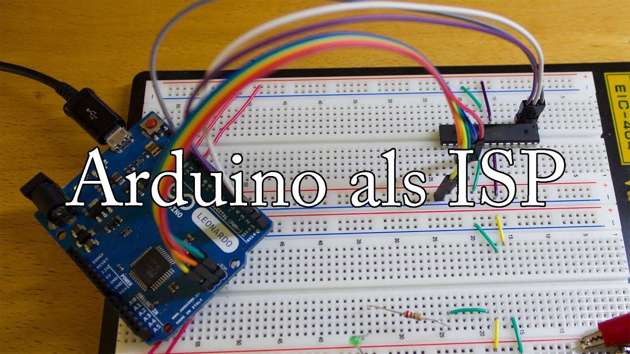 Arduino leonardo als isp youtube