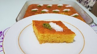 Portakallı Revani Yağsız, Sütsüz,Yoğurtsuz Harika Lezzet Tam Ölçü
