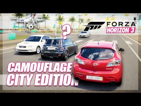 Forza Horizon 3 – Camouflage City Edition (with Drones!)