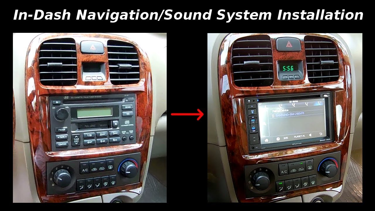 how to install in dash navigation sound system backup camera youtube. Black Bedroom Furniture Sets. Home Design Ideas