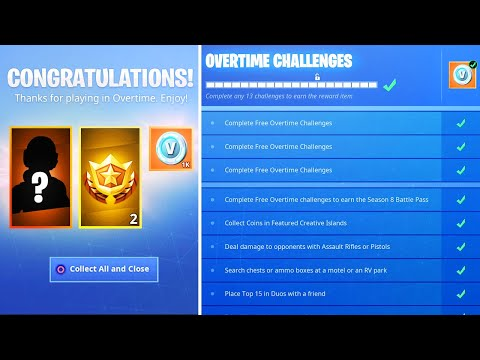 finish all overtime challenges then this happens new fortnite free rewards thumbnail - fortnite valentines day challenges free battle pass