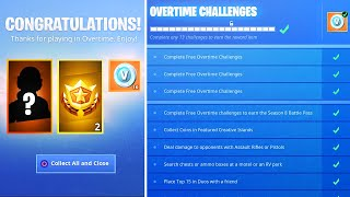 Finish ALL Overtime Challenges then THIS happens.. (New Fortnite FREE Rewards)