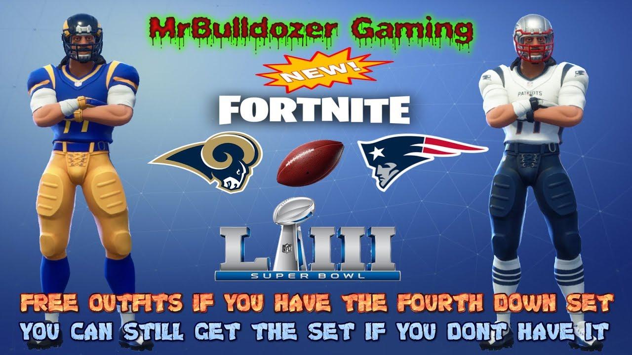 Download Fortnite Season 7 New NFL Super Bowl LIII Rams & Patriots Outfits & Free Football Toy NFL Rumble LTM