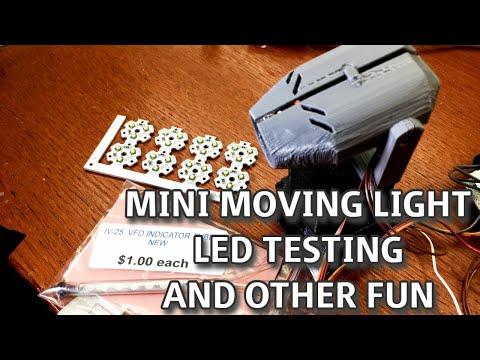 Mini Moving Light, Arduino 'Light Board', and LED Burnout Stream