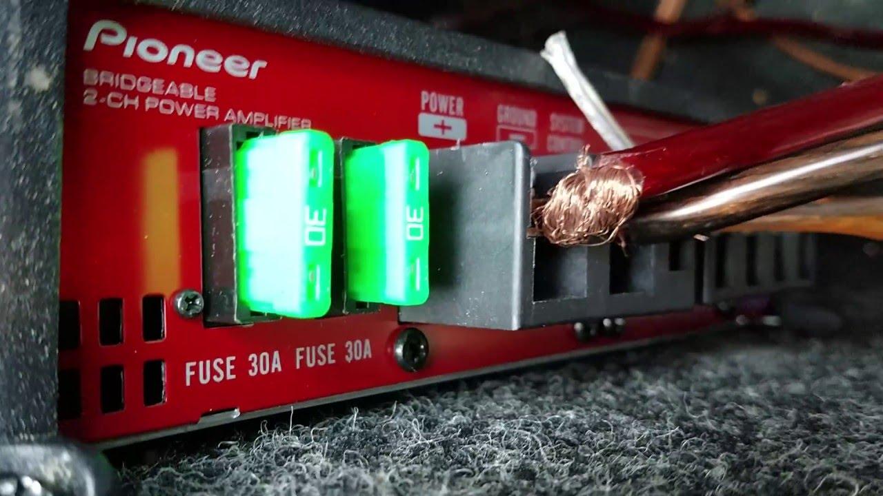Pioneer gm-a5602 900 watt class ab 2-channel car amplifier.