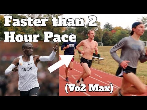 FASTER THAN 2 HOUR MARATHON PACE WORKOUT *vo2 max*