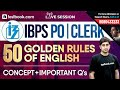 IBPS PO | Clerk English Class With Nitin Sir | 50 Golden Rules of English + Important Questions!