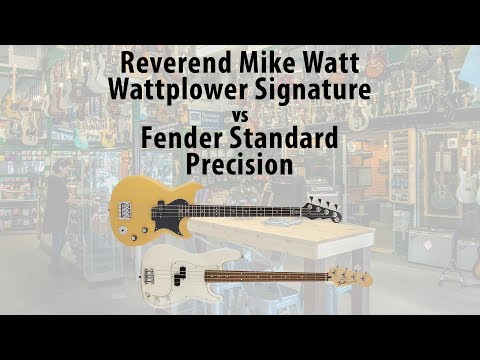 Reverend Mike Watt Wattplower vs Fender Standard Precision Bass Comparison