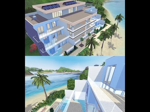 Sims 3 Speed Building: Tropical Beach Apartments (Part 2)