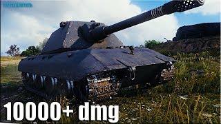 Танк E 100 бой за ТРИ ОТМЕТКИ 🌟 10000+ dmg World of Tanks