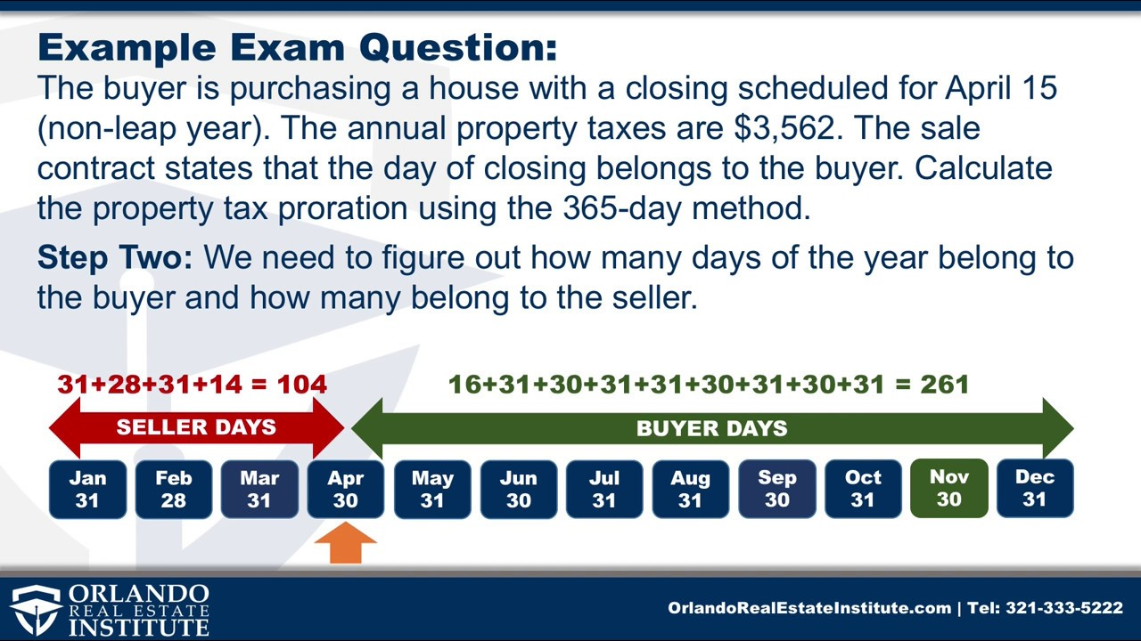 real estate tax prorations a florida real estate exam tutorial