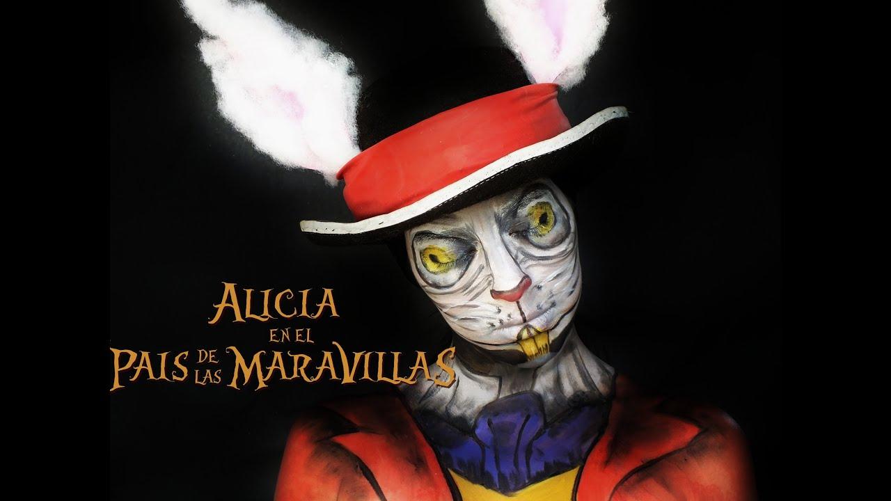 Tutorial maquillaje conejo paso a paso alicia en el pais de las maravillas youtube - Conejo de alicia en el pais de las maravillas ...