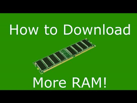 how to download more ram onto your computer youtube