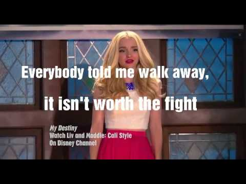 Dove Cameron My Destiny Lyrics
