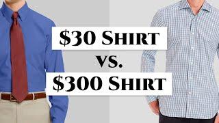 $30 vs $300 Men's Dress Shirt - How To Spot Quality Shirts & Avoid Crap- Gentleman's Gazette thumbnail