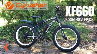 Cyrusher XF660 Fat Tire eBike | 500W hub motor + 48V Battery