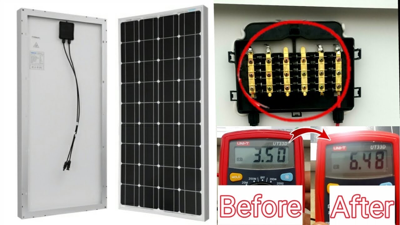 How To Repair Solar Panel At Home Increase Ampere Of