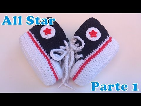 8a1d07c8533 Sapatinho All Star de Crochê 1 - YouTube