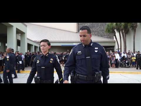 Kissimmee Police Officer Funeral Tribute (With 10-7 Calls)