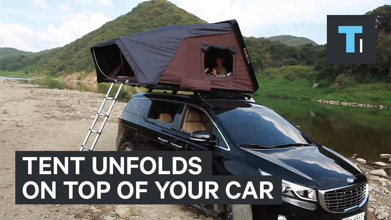 This cargo bin transforms into a massive tent on top of your car & This cargo bin transforms into a massive tent on top of your car ...
