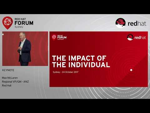 Opening Welcome & Keynote - Max McLaren at Red Hat Forum  Sydney 2017