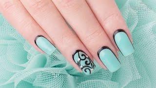 Indigo Gel Polish Tiffany + Salon Quick Design