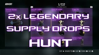 2x legendary supply drop hunt aw supply drop opening