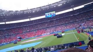 Euro 2016 - prematch ceremony - italy vs spain (4k ultra hd)