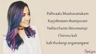 be free original pallivaalu bhadravattakam vidya vox mashup cover ft vandana iyer lyrics