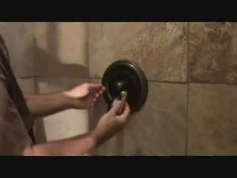How to tighten a loose shower handle - YouTube