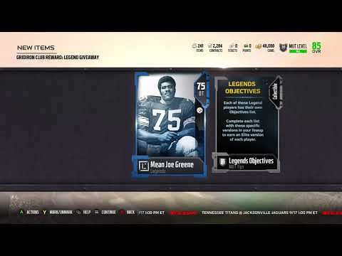 Madden 18 Ultimate Team Legend Mean Joe Greene finally arrived on Xbox One - Get Grinding