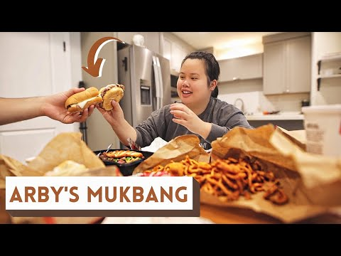FAST FOOD MUKBANG ARBY'S 먹방 EATING SHOW (ROAST BEEF SANDWICH + CURLY FRIES + APPLE TURNOVER)