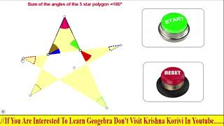 Angles of a 5 star polygon in geogebra