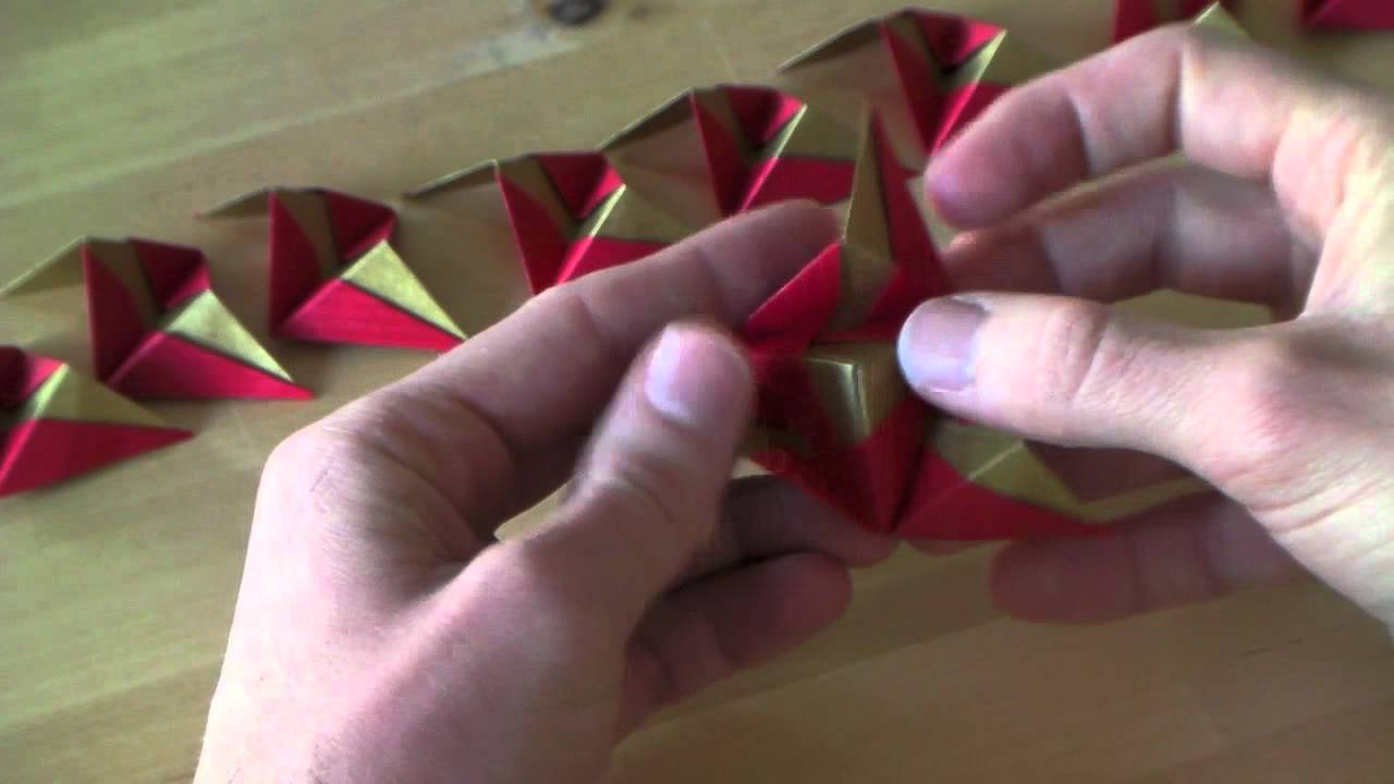 Origami Tutorial Christmas Ornament Youtube