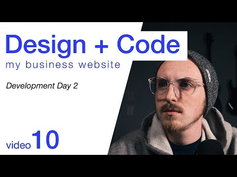 Design + Code My Business Website - Development Day 2