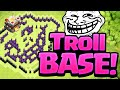 Clash of Clans TROLLED - A Troll Base Stuffing LEGENDS!