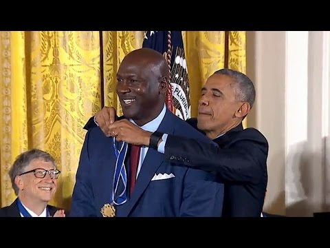 FULL EVENT President Obama Awards the Presidential Medal of Freedom. Nov 22. 2016. Michael Jordan