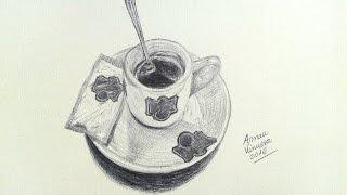 Drawing a coffee cup - Dibujando una taza de café