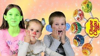 Eating Magic Chupa Chups Lollipops - Funny video for Kids