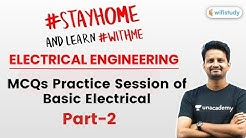 9:00 PM - SSC JE 2019-20 | Electrical Engg. by Ashish Sir | MCQs Practice Session (Part-2)